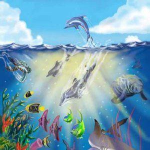 Melissa & Doug Under The Sea 100pc Floor Puzzle 6+